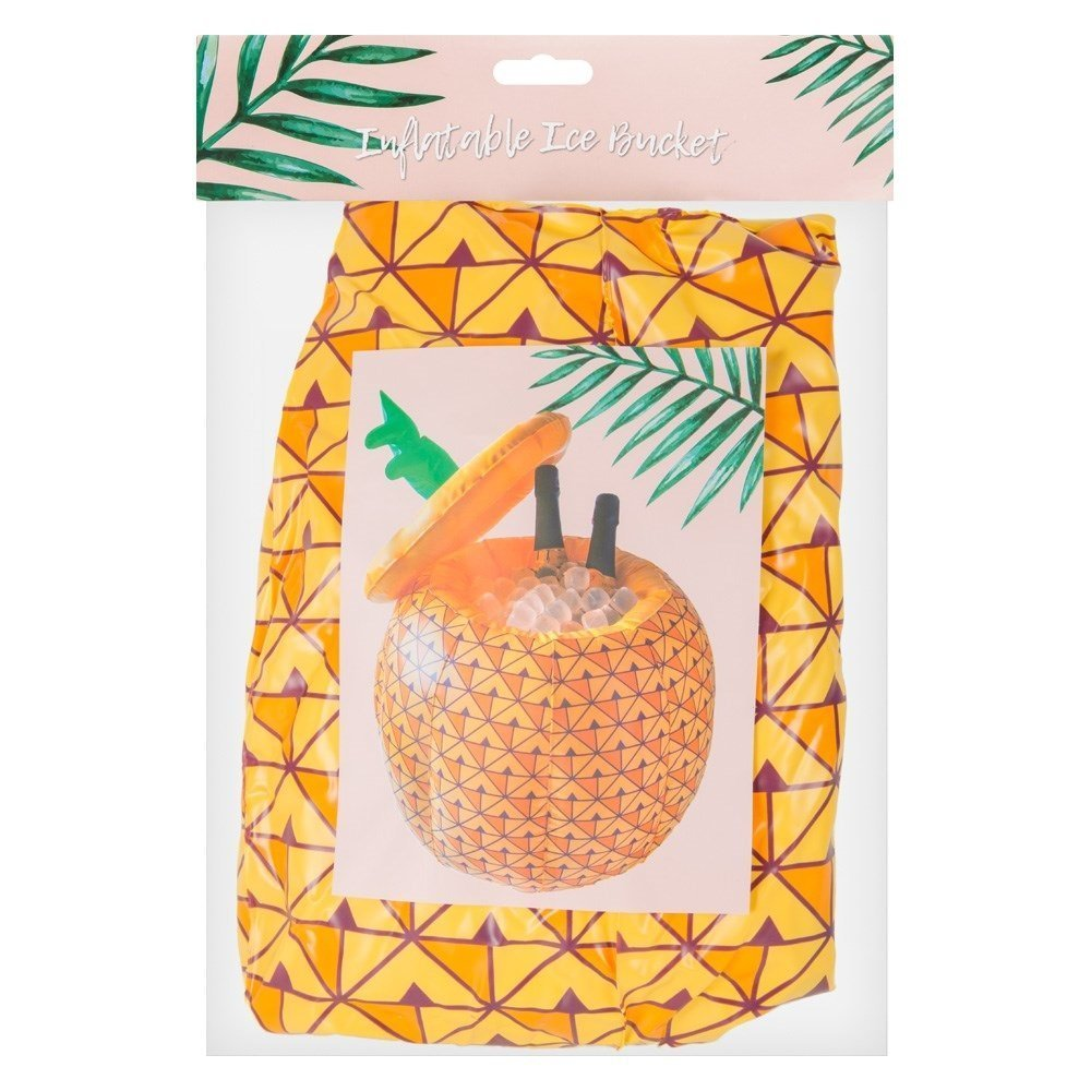 Inflatable Ice Bucket Drinks Cooler Summer Party Pineapple Lid Novelty Tropical Beverage Beer Camping Festival Pool Beach All For You