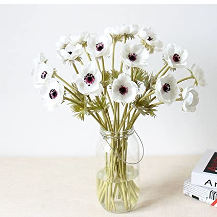 Amazon Com 5pcs Artifical Real Touch Pu Anemone Flower Bouquet Room