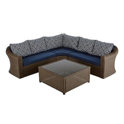 Fantastic Amazon Com Hampton Bay Maldives Brown Wicker Patio Cjindustries Chair Design For Home Cjindustriesco