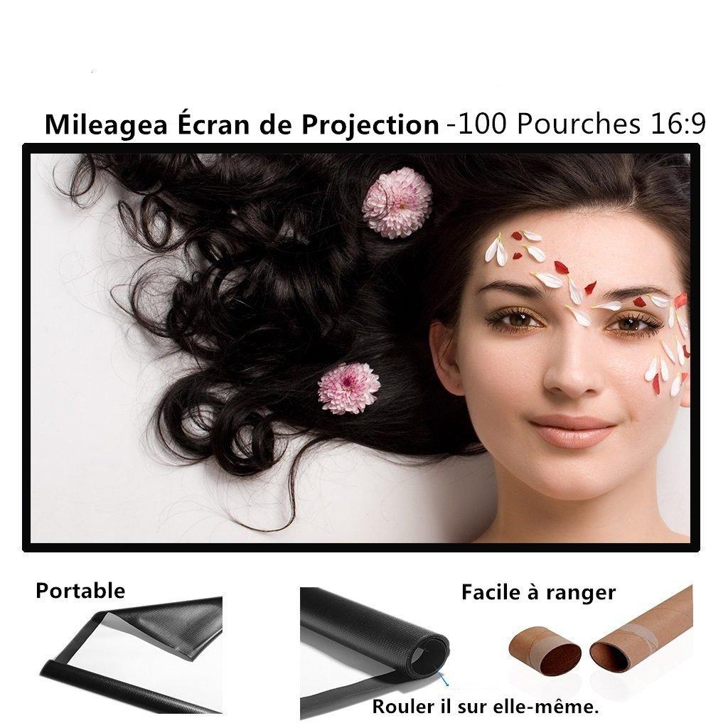 Mileagea : Pantalla para Proyector Portable x cm para Pared Blanco