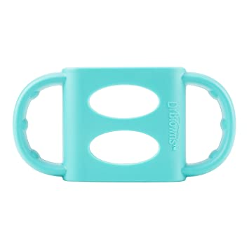 Turquoise Dr Brown/'s 100/% Silicone Standard-Neck Baby Bottle Handles