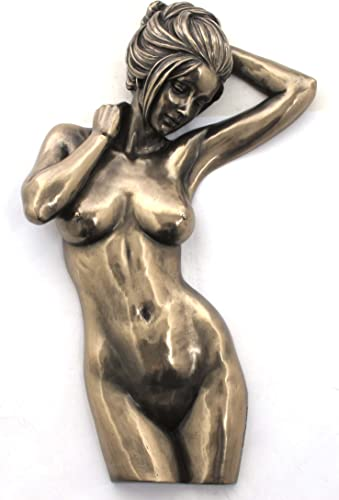 Bronzed Finish Nude Female Woman Wall Plaque Decor
