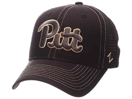 0ee66ee6 Amazon.com : Pittsburgh Panthers Zephyr Black Mesh Blackout Trucker ...