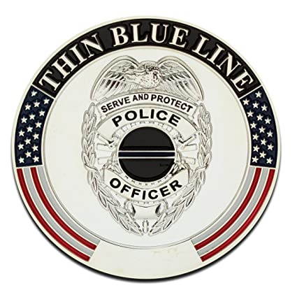 Thin Blue Line Challenge Coin