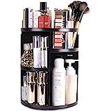 sanipoe 360 Rotating Makeup Organizer, DIY Adjustable Makeup Carousel Spinning Holder Storage Rack, Large Capacity Make up Ca