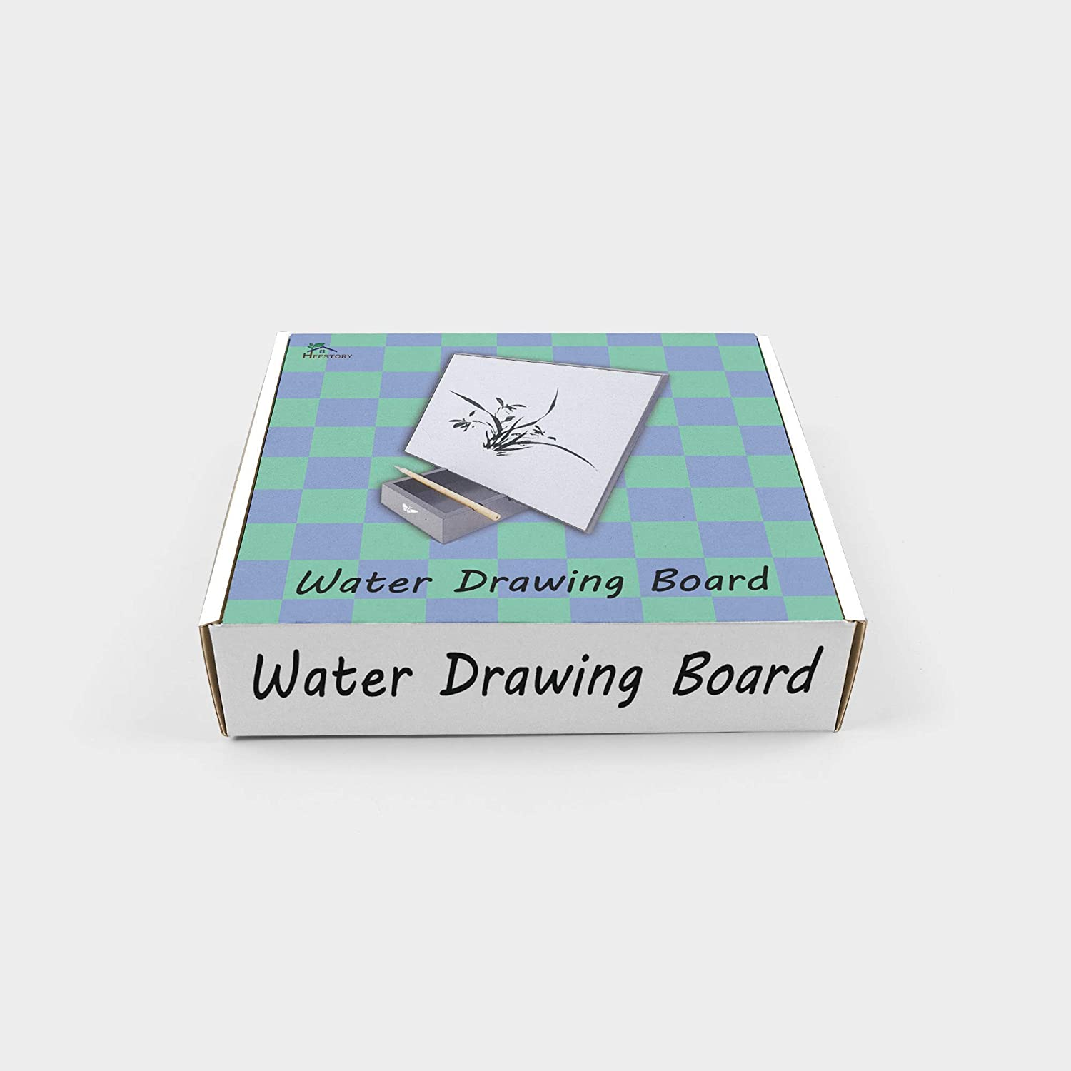 Water Drawing Bamboo Board Painting Reusable Art Board Calming Water Brush Board Great Gift for People Who Like to Draw Relaxing Water Brush Board for Kids and Adults Buddha Board Replacement