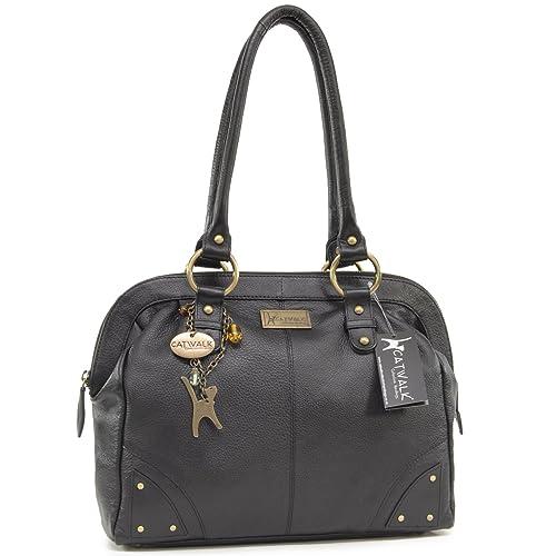 1f487196f3cb Catwalk Collection Handbags - Women s Leather Tote Shoulder Bag - DOCTOR BAG  - Black