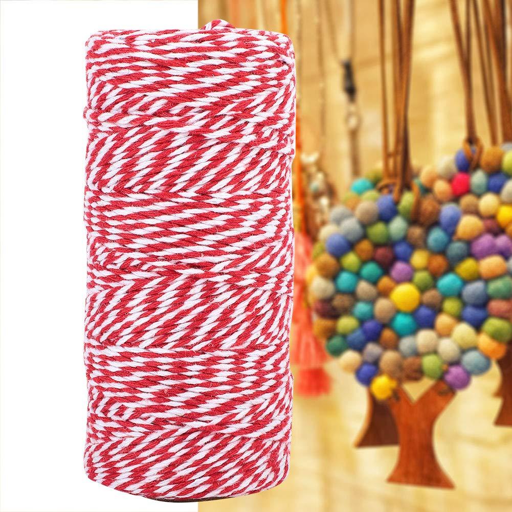 bricolage pr/ésentoirs /à photos et embellissements emballages cadeaux Noir blanc Ficelle de coton Bakers ficelle color/ée de 100 m pour les /œuvres dart