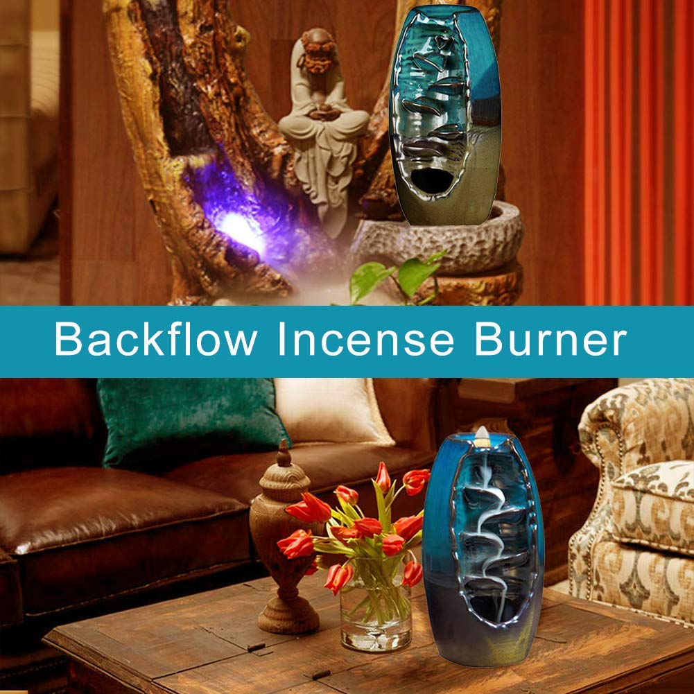 Swimmaxt Backflow Incense Burner Waterfall, Home Decor Modern Art Work,Indoor/Outdoor Accents Decoration for Home/Kitchen/Party/Christmas, Novelty Birthday Wedding Festival Decor Gift by Swimmaxt (Image #6)