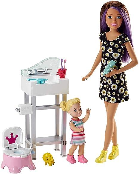 Barbie Babysitters Con Vasino Playset Bambola BebèLavandino E bf7y6vgY