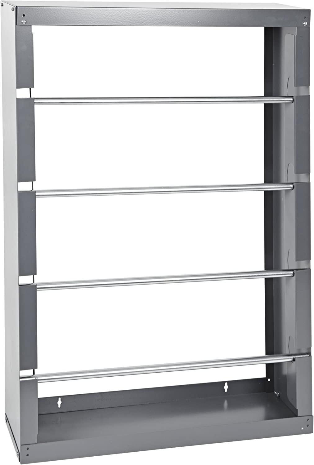 """Durham 368-95 Gray Cold-Rolled Steel Wire Spool Rack with 4 Rods, 26-1/8"""" Width x 37-1/8"""" Height x 6"""" Depth"""
