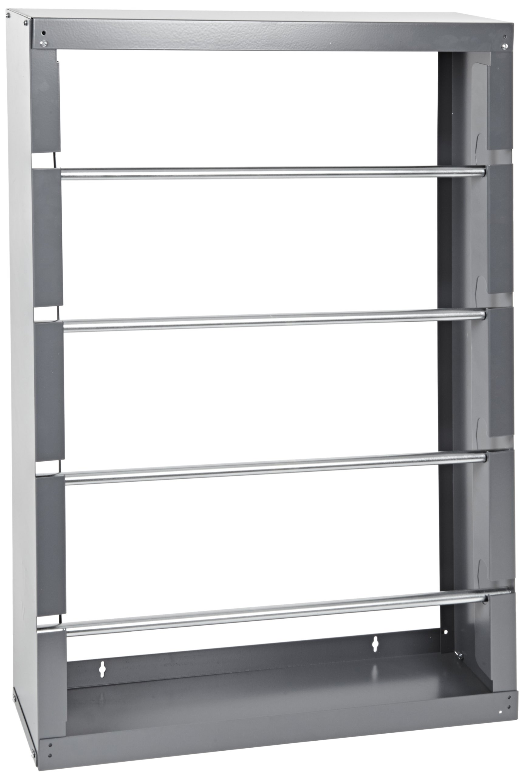 Durham 368-95 Gray Cold-Rolled Steel Wire Spool Rack with 4 Rods, 26-1/8'' Width x 37-1/8'' Height x 6'' Depth