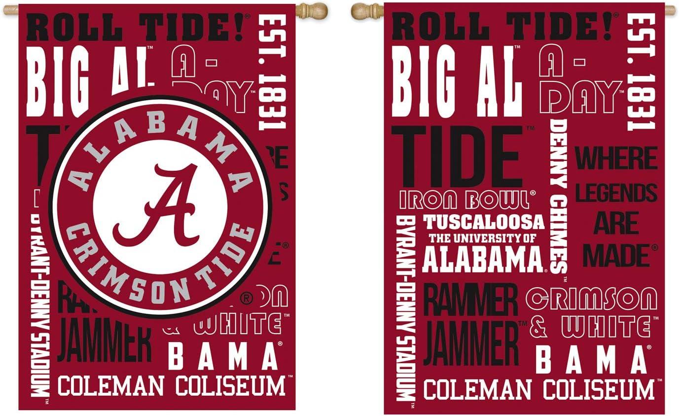 Team Sports America U of Alabama Fan Rules Garden Flag - 13 x 18 Inches