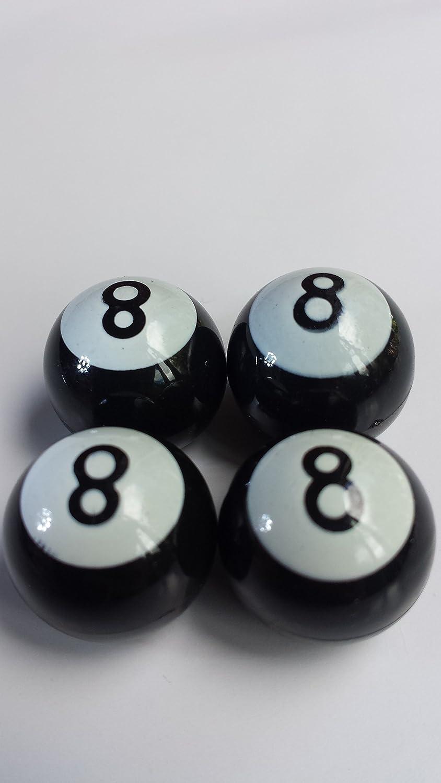 Negro ocho 8 bolas de billar coche rueda neumático válvula de aire ...