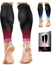 Calf Sleeves for Men & Women (20-30 mmHg) - Calf Support - Compression Calf Guards - Leg Sleeves for Torn Muscle - Shin Splints Brace (Pair)