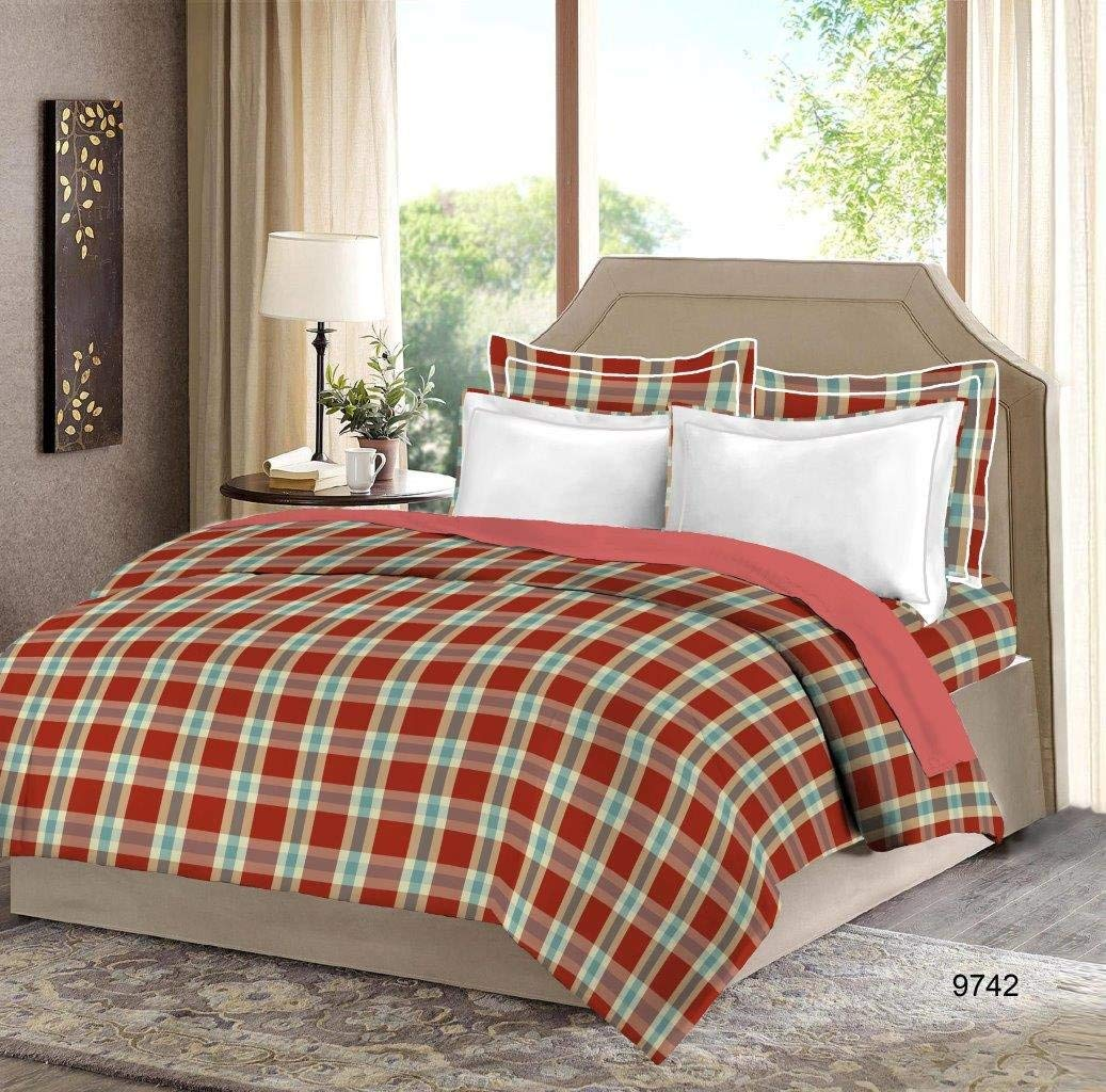 Bombay Dyeing Manchester 100% Cotton Bedsheet with 4 Pillow