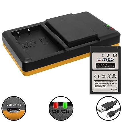 BATTERIA FOTOCAMERA-Caricabatterie supporto di ricarica per Olympus PEN e-pl5