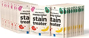 Miss Mouth's Messy Eater Baby Stain Remover Spray Kids Stain Remover Non Toxic Stain Treater Stain Remover Wipes (25 Wipes)