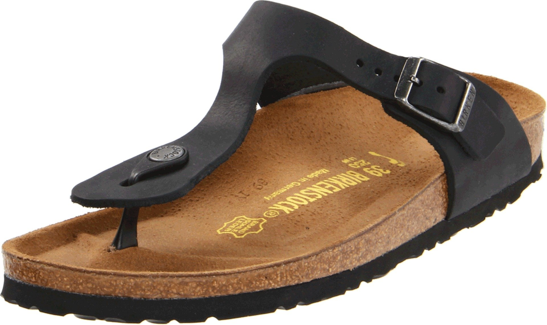 Birkenstock Women's GIzeh Thong Sandal, Black Oiled, 40 M EU/9-9.5 B(M) US
