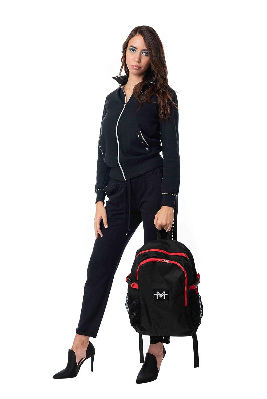 Morgan Visioli mode dam tillbaka svart & röd Svart & röd
