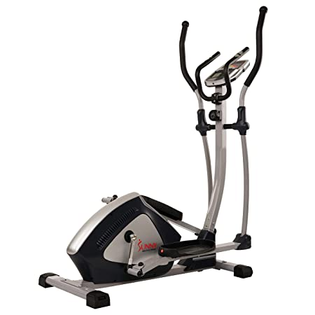 Sunny Health Fitness Magnetic Elliptical Trainer Elliptical Machine w LCD Monitor and Heart Rate Monitoring – Endurance Zone – SF-E3804