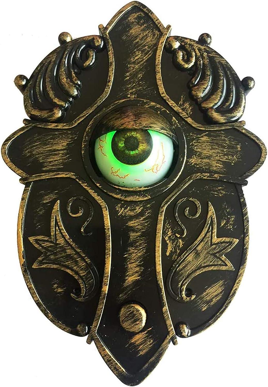 Decorazioni di Halloween Decorazioni per Campanello Bulbo Oculare Animato Decorazioni per Campanello di Halloween illuminano il Campanello Parlante Halloween Decorazioni fai da te allaperto