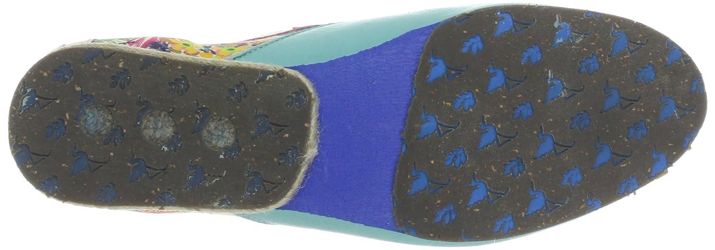 Stork Damen Steps Samurai A7 Damen Stork Schnürhalbschuhe Mehrfarbig (Turquoise / Light Pink) 4e9916