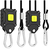 VIVOSUN 1-Pair 1/8 inch Rope Hanger w/Improved Design, More Convenience - Press Button Easy Adjust, Reinforced Metal Internal Gears, 8-ft Long & 150lbs Weight Capacity (Exclusively Patented)