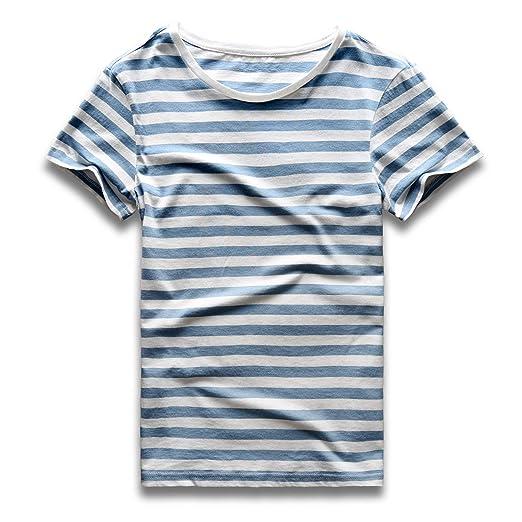 3ef8f59134d39 Zecmos Mens Stripes T-Shirts Casual Slim Fit Tshirts Striped Tees Top