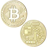 Bitcoin Molding-making Badge Holders Sets,(2 PCS) Gift Physical Metal Antique Imitation Home Party Decoration