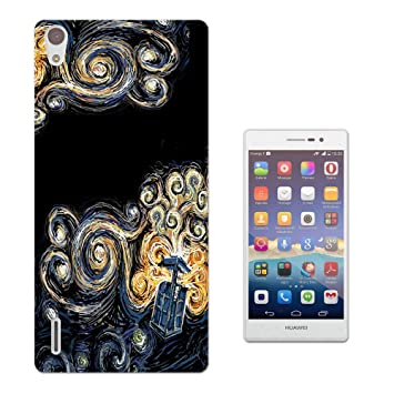 Moe-Cell Doctor Who Tardis Van Gogh Canvas Huawei Ascend P7 ...