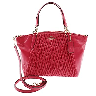 51c3b9c200c2 Amazon.com  Coach Small Kelsey Satchel in Gathered Twist Leather in Dahlia  F37081 IMDUL  Shoes
