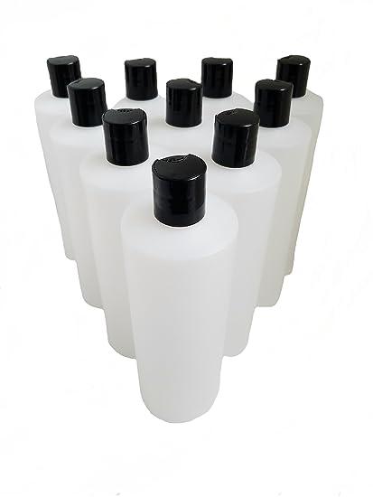 Kelkaa - Botellas de plástico de alta densidad, resistentes, apretables, con tapa superior