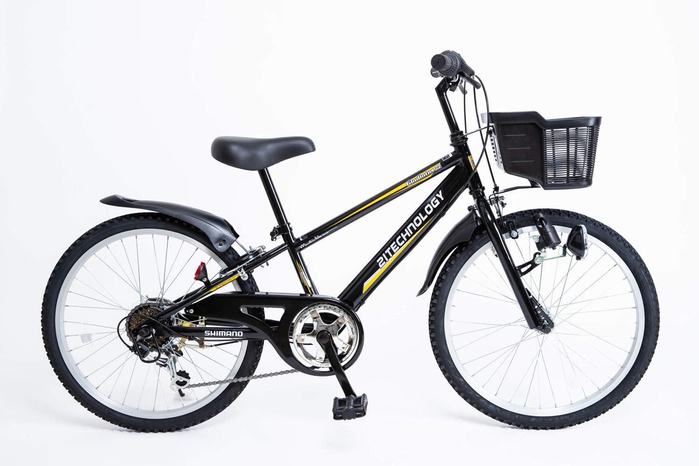 21Technology 22インチ 子供用マウンテンバイク kd226 6段ギア付き(ブラック22)