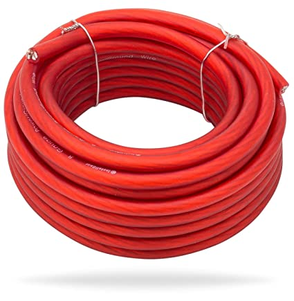 Amazon installgear 8 gauge red 25ft powerground wire true spec installgear 8 gauge red 25ft powerground wire true spec and soft touch cable keyboard keysfo Images