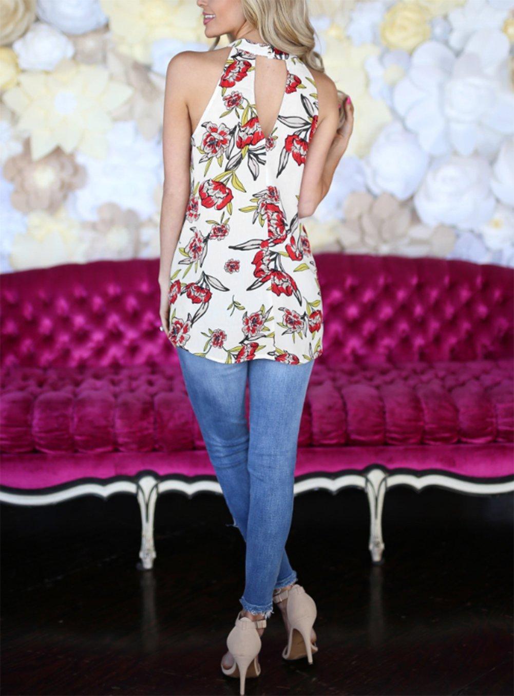 Comcrib Womens Casual Floral Printed Sleeveless Vest Shirt, Ladies Tank Top Blouse Tunic Tops Summer Beachwear T-Shirt by Comcrib (Image #7)
