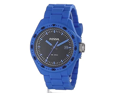 Amazon.com: Fossil Mens AM4537 Decker Analog Display Analog Quartz Blue Watch: Fossil: Watches