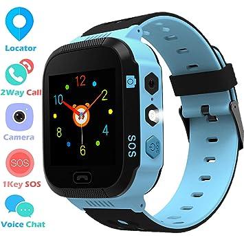 Smartwatch para Niños - Reloj de niños con Pantalla táctil Llamada con 2 Voces Chat de Voz SOS Reloj Despertador Linterna Juego Reloj de Pulsera para ...