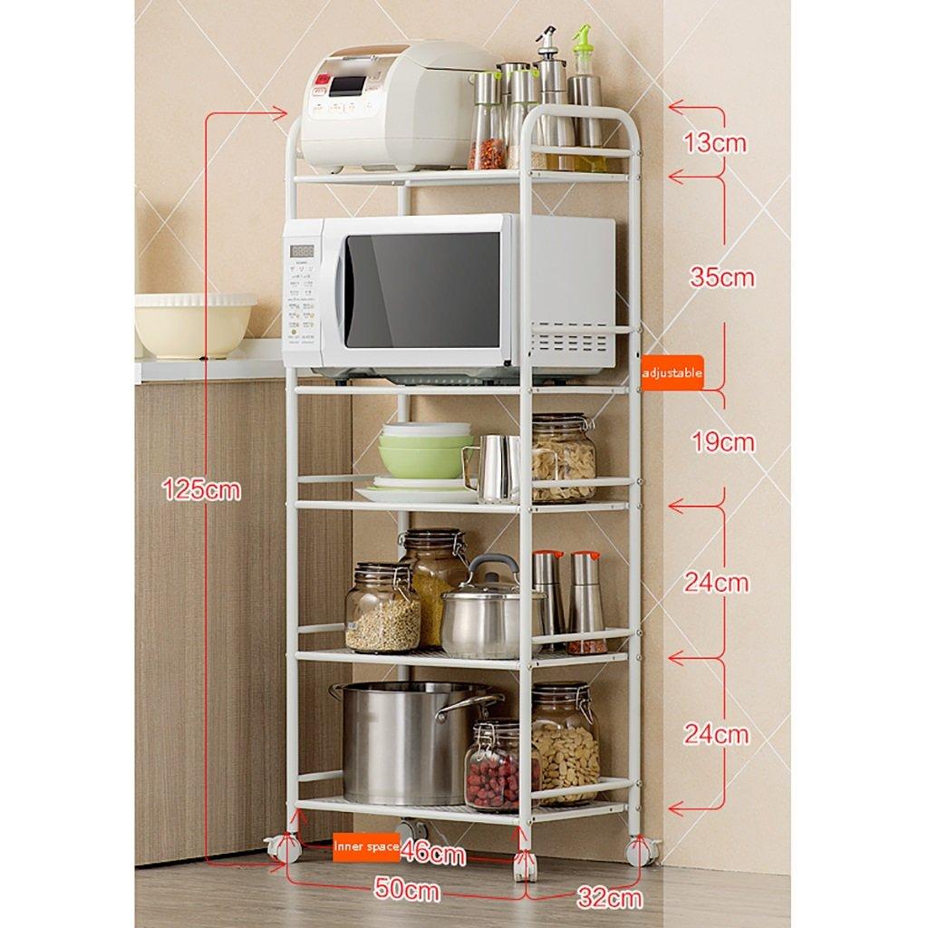 LXLA棚棚電子レンジオーブンラックキッチンはどこでもどこでも移動可能フロアスタンド多層炭素鋼キッチン記事5層のレイヤー5フロア(利用可能な50/60 * 32 * 125 cm) ( サイズ さいず : 50 cm 50 cm ) B07BGYTBQY50 cm 50 cm