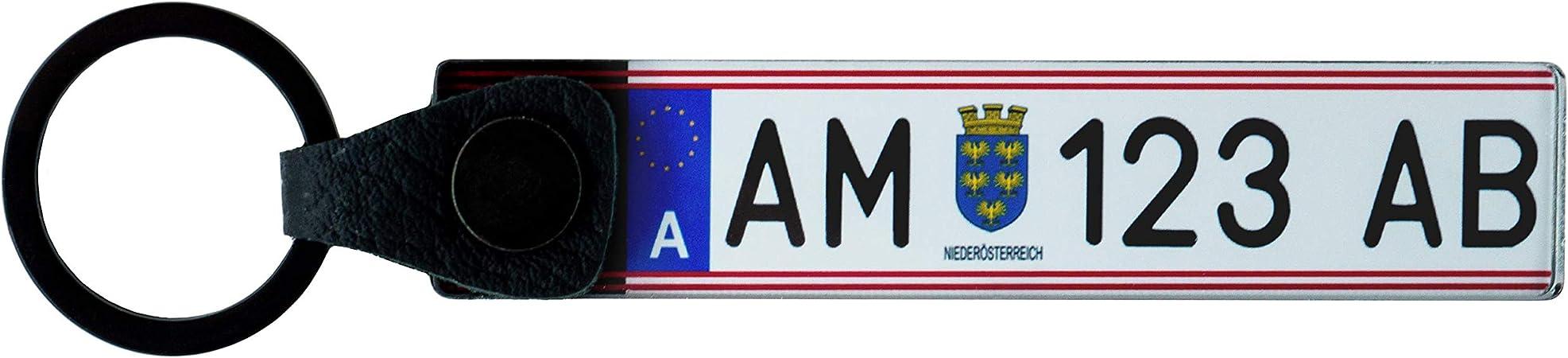 Kfz Kennzeichen Österreich Schlüsselanhänger Personalisiert Individuell Anpassbar Zweiseitig Koffer Rucksäcke Taschen