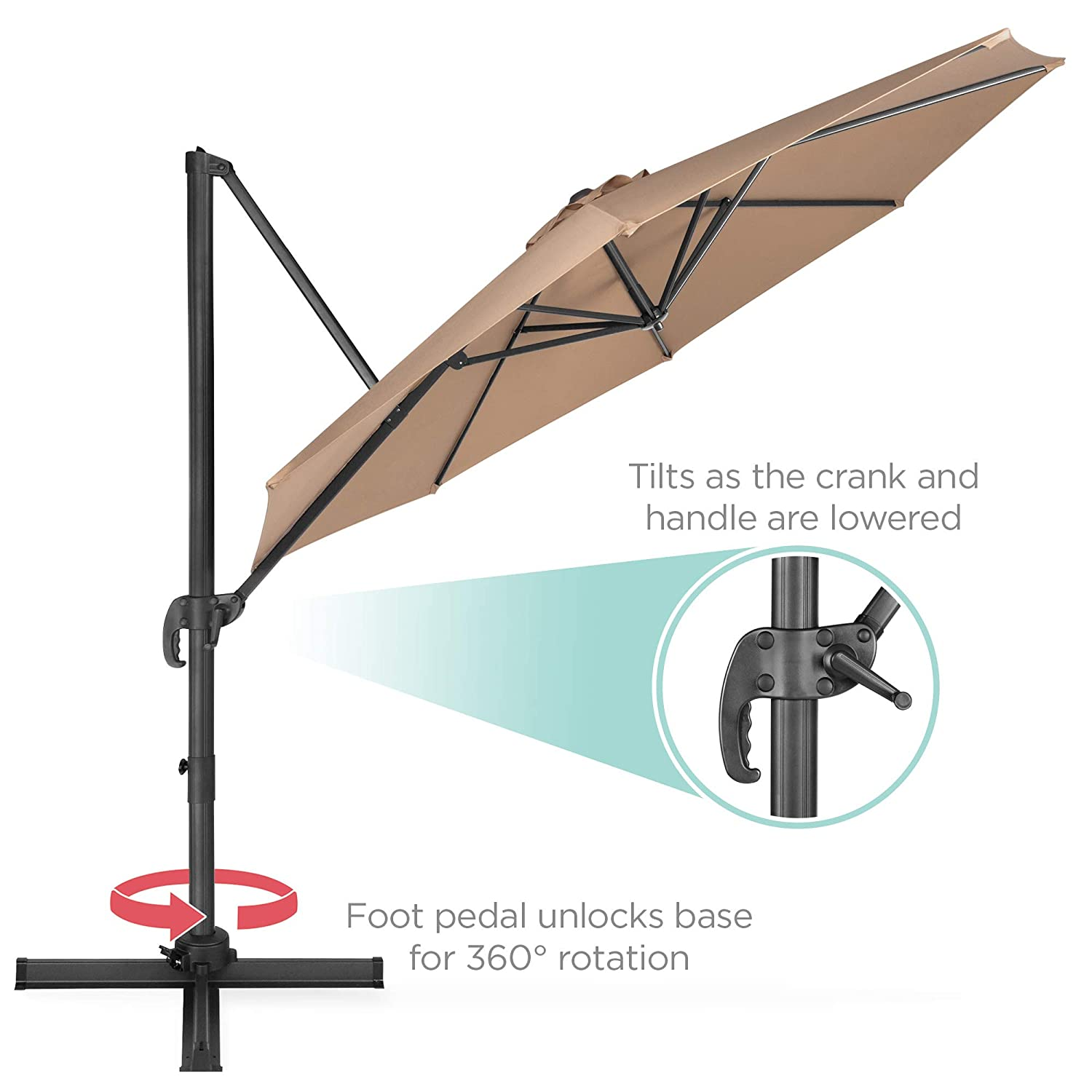 Light Blue Best Choice Products 10-Foot 360-Degree Rotating ...