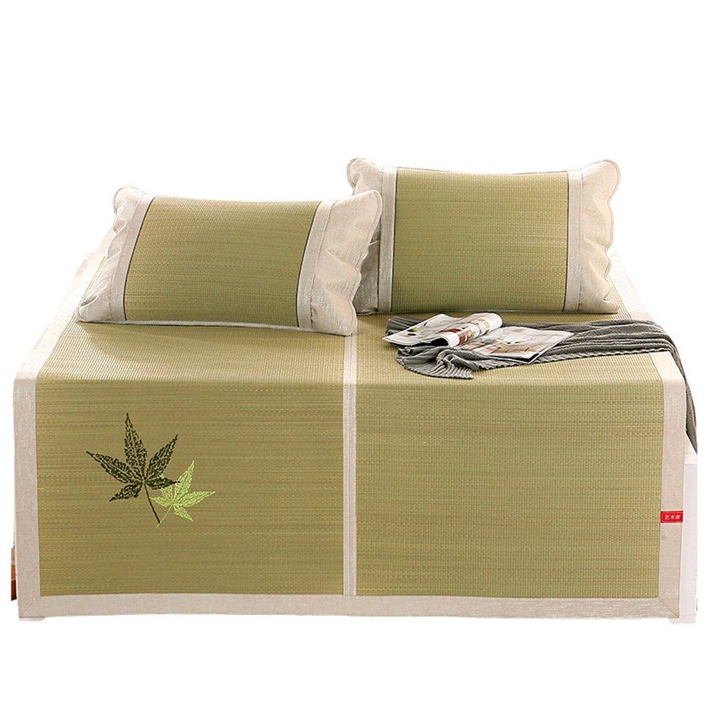 WENZHE Bambus Matratzen Sommer-Schlafmatten Strohmatte Teppiche Falten Gemütlich Multifunktion, 1,2/1,5/1,8 M