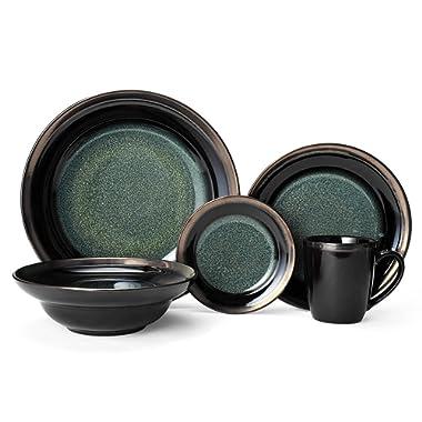 Gourmet Basics Jade 20 Piece Dinnerware, Service for 4