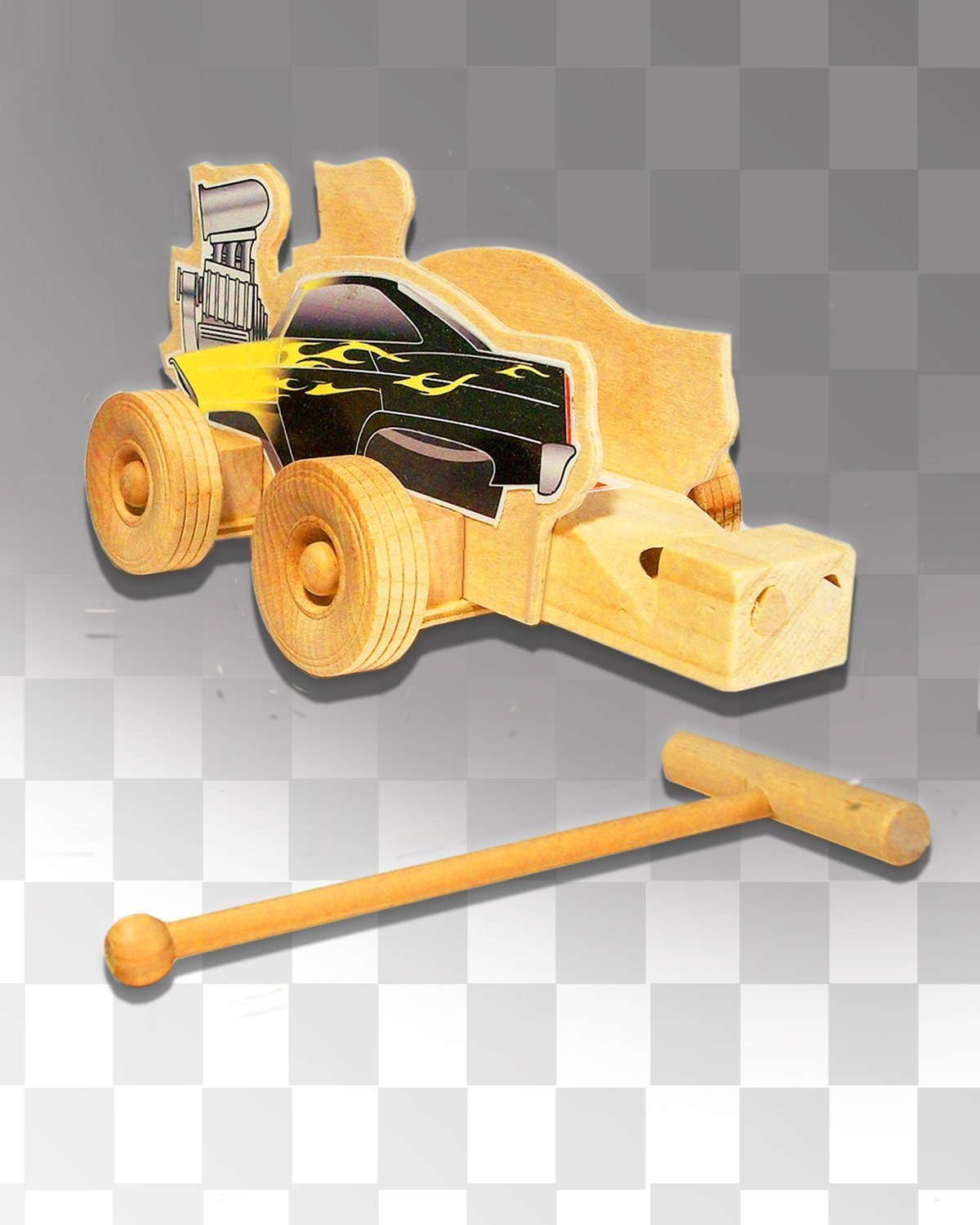 Wooden Whistle-Street racer with launcher