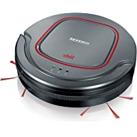 Severin RB 7025, Aspirateur Robot (Accu Li-Ions 12,8V, chill) Gris/Rouge/Noir