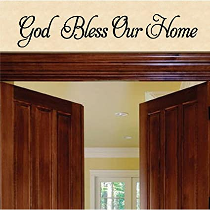 Amazon.com: Jeyfel Decals: Wall Decals. God Bless Our Home Wall ...