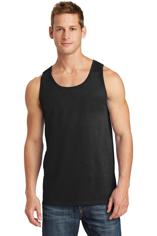 Port /& Company Mens Comfortable Cotton Tank Top/_Jet Black/_4XL