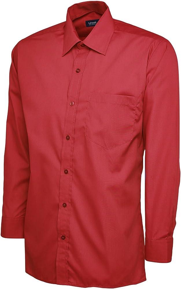 Uneek clothing - Camisa formal - para hombre Rojo rosso talla única: Amazon.es: Ropa y accesorios