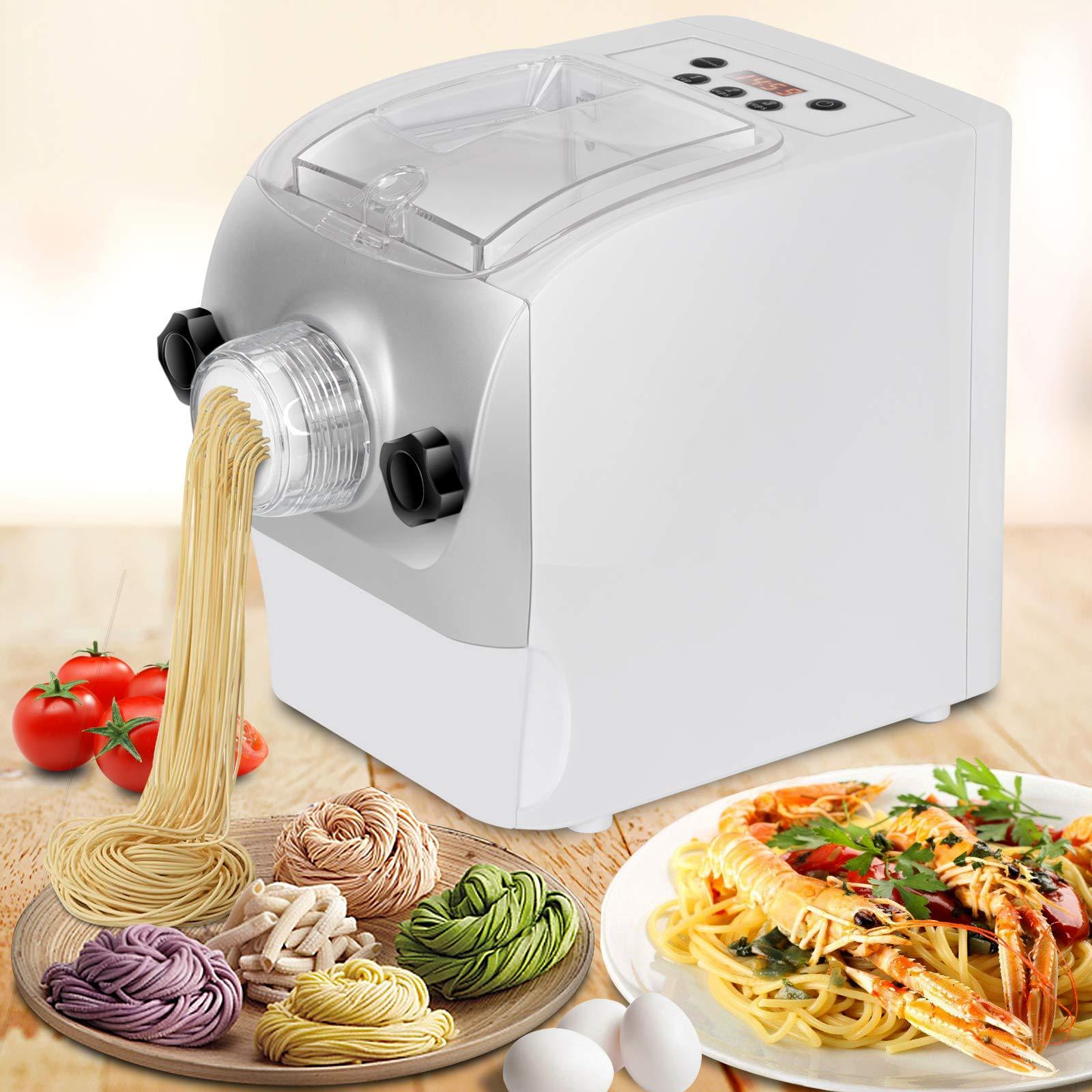 Electric Pasta Maker Automatic Noodle Machine Spaghetti Macaroni Fettuccine Lasagna Bonus Ravioli Sausage Maker with Mixes, Kneads & Extrudes by ZENSTYLE