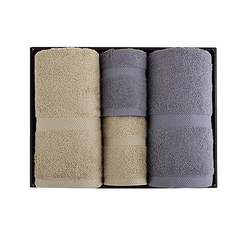 Cuidado facil Toalla de baño de toalla de cuatro toallas de regalo de cuatro conjuntos de